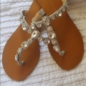 Crystal badgley mischka sandals size 5 1/2